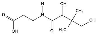Формула витамина В5 - пантотеновая кислота