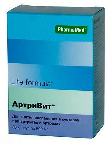 Артривит - препарат глюкозамина с дополнительными вспомогательными компонентами, предназначенный в первую очередь для поддержки хрящевой ткани в суставах.