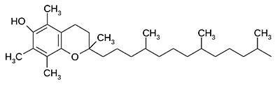 Витамин Е (альфа-токоферол) - химическая формула