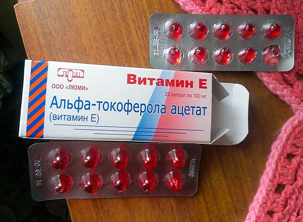 Препараты витамина Е выпускаются также в капсулах.